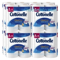 ihocon: Cottonelle Clean Care Toilet Paper, Double Roll, 4 Count (Pack of 8)