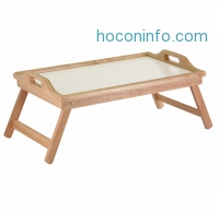 ihocon: Winsome Wood Breakfast Bed Tray with Handle Foldable Legs