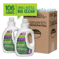 ihocon: Seventh Generation Liquid Laundry 4x, Geranium Blossom and Vanilla, 2 Count, 80 Fl Oz Total