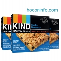 ihocon: KIND Healthy Grains Granola Bars, Vanilla Blueberry, 1.2oz Bars, 15 Count