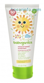 ihocon: Babyganics Mineral-Based Baby Sunscreen Lotion, SPF 50, 6oz Tube (Pack of 2)