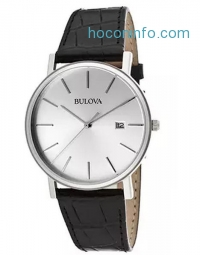 ihocon: Bulova Men's 96B104 Silver Dial Dress Watch