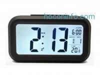ihocon: Gogogu Alarm Clock Date and Temperature Display, Repeating Snooze, Light-activated Sensor Light