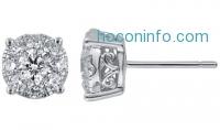 ihocon: 1.5 CTW Round Diamond Earring in 14K White Gold