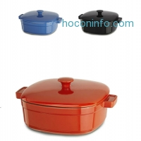 ihocon: KitchenAid 6 Qt.鑄鐵鍋 Streamline Cast Iron Casserole Cookware KCLI60CRAU