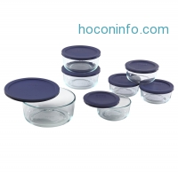 ihocon: Pyrex 1118988 14-Piece Simply Store with Blue Covers