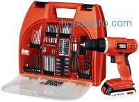 ihocon: Black & Decker BDC120VA100 20-Volt MAX Lithium-Ion Drill Kit with 100 Accessories