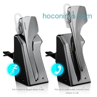 ihocon: Mpow Knight Pro 藍牙無線耳掛車用聽筒 Wireless Bluetooth 4.0 Headset Headphone with In-car Charging Dock