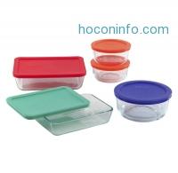 ihocon: PYREX 10-pc Storage Set w/ Plastic Covers