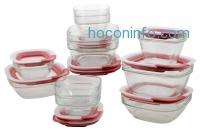 ihocon: Rubbermaid Easy Find Lid Glass Food Storage Set, 22-piece