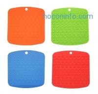 ihocon: Ozera Silicone Pot Holders, Nonslip High Heat Resistant Hot Pads, Set of 4, Multi Colors