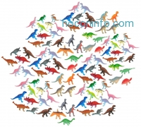 ihocon: Vinyl Minature Dinosaurs (100-Pack)
