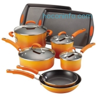 ihocon: Rachael Ray Porcelain II 12件式不沾鍋組 Cookware Set