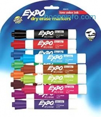 ihocon: Expo Low Odor Chisel Tip Dry Erase Markers, 12 Colored Markers