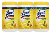 ihocon: Lysol Disinfecting Wipes, Lemon and Lime Blossom, 240 Count