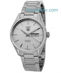ihocon: Tag Heuer Carrera Automatic Silver Dial Stainless Steel Mens Watch WAR201BBA0723
