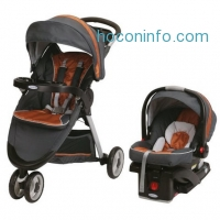 ihocon: Graco FastAction Fold Sport Stroller Click Connect Travel System, Tangerine