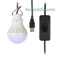 ihocon: Onite® USB LED Light for Camping, Children Bed Lamp, Portable USB LED Bulb, Emergency Light, Cord Comes with Switch