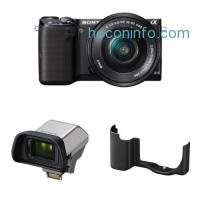 ihocon: Sony NEX-5TL Compact Interchangeable Lens Digital Camera with 16-50mm Power Zoom Lens, Electronic View Finder and Black Case
