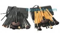 ihocon: Makeup Brush 24-Piece Set with Vegan Leather Case