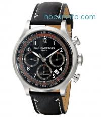 ihocon: Baume & Mercier Men's 10001 Capeland Chronograph Black Chronograph Dial Watch