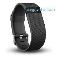 ihocon: Fitbit Charge HR Wireless Activity Wristband, Black, Large