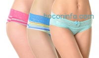 ihocon: Angelina 12-Pack of Cotton Lace-Accented Panties