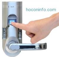 ihocon: iTouchless Bio-Matic Fingerprint Door Lock For Right Hand Door, Silver