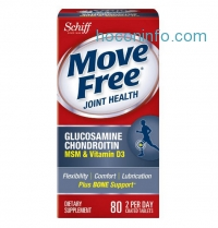 ihocon: Move Free 關節保健品 Glucosamine Chondroitin MSM Vitamin D3 and Hyaluronic Acid Joint Supplement, 80 Count