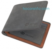 ihocon: Artius Luxury Wallet For Men, Bifold, Made From Super-Smooth Nubuck Leather