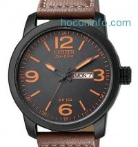 ihocon: Citizen 星辰光動能皮帶男表 Eco Drive Leather Mens Watch BM8475-26E