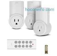 ihocon: Etekcity 3 Pack Wireless Remote Controlled Electrical Switch Socket Outlet with Remote (Battery Included) For lamps, lights and power strip