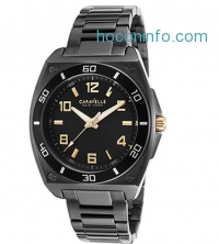 ihocon: CARAVELLE BY BULOVA 45A118 Men's Gunmetal IP Watch