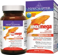 ihocon: New Chapter 野生阿拉斯加鮭魚油 Wholemega Whole Fish Oil, 60 Softgels