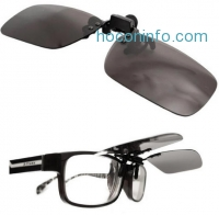 ihocon: Premium Polarized Clip-on Sunglasses with Compact Metal Flip Up Mount by Elements