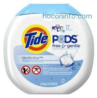 ihocon: Tide Pods Free & Gentle HE Laundry Detergent 77 Count
