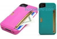 ihocon: CM4 Q4-GREEN Q Card Case Wallet for Apple iPhone 4/4S