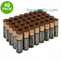ihocon: Duracell Duralock Copper Top Alkaline AA Batteries 電池40個