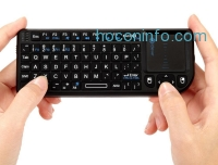 ihocon: iClever® IC-RF01 2.4G Ultra Mini Wireless Keyboard with Mouse Touchpad
