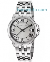 ihocon: Raymond Weil 5591-ST-00659 Men's Tango Silver Dial Stainless Steel Watch