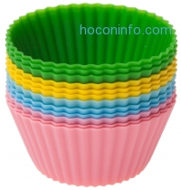 ihocon: Ozera Silicone Baking Cup Cupcake Liners, Set of 12, 4 Colors