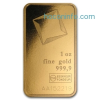 ihocon: Gold at Spot 1 oz Valcambi Suisse Gold Bar In Assay .9999 Fine