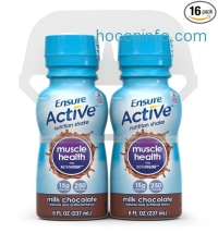 ihocon: Ensure 肌肉保健飲品 Active Muscle Health Shake, Milk Chocolate, 8-Ounce, (Pack of 16) (Packaging May Vary)