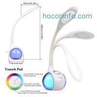 ihocon: Onite 2合1 彩色觸控LED桌燈+USB充電插座 Color Changing LED Desk Lamp