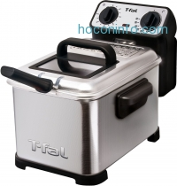 ihocon: T-fal 不鏽鋼深炸鍋 Family Pro 2.6-Pound 3-Liter Deep Fryer with Stainless Steel Waffle FR4049