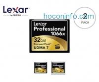 ihocon: Lexar 32GB Professional 1066x CompactFlash Memory Card 2個