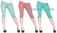 ihocon: Women's Junior-Sized Stretch Capri Pant