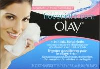 ihocon: Olay 4合1清潔卸妝面紙 Daily Facial Cloths, Normal Skin 33 張