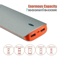 ihocon: Omaker S-X6 Premium Dull Polish Finish 15600mAh Dual USB Portable Charger External Battery Pack Power Bank
