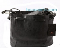 ihocon: Avber Vintage Style Nubuck Leather Women's Bucket Bag
